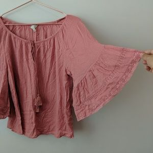Lucky Brand Los Angeles Pink Top Size Medium